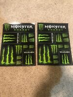 2 Sheets Of Monster Energy Drink Logo Sticker Decals