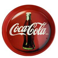 Coca Cola Vintage Round Tin Serving Tray From Mexico
