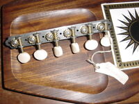 SET OF VINTAGE ELECTRIC GUITAR TUNING PEGS Maybe Harmony or Kay guitar 60s NOS $125.00
