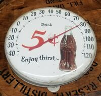 Coca Cola Thermometer 5 cent Enjoy Thirst Vintage