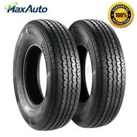 2x ST225/75R15 10Ply RV Radial Tubeless Trailer ATV UTV Wheel Tires ST225/75-14