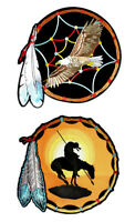Set Of Native American End Of The Trail Eagle Dream Catcher Embroidered Patches