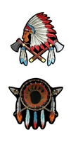 Set Of Native American Chief Dream Catcher Bear Paw Embroidered Patches