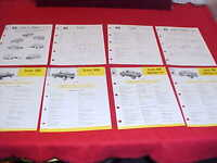 ORIGINAL SCOUT 800 INTERNATIONAL TRUCK SALES BROCHURE PROSPEKT IH GROUP LOT OF 8