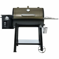 NEW Pit Boss 440D DELUXE PATIO Wood Fired Pellet Grill w/ Flame Broiler
