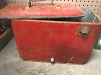Antique Coca Cola Cooler With Bottle Opener Attached