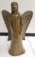 Clint Alderman Georgia Southern Folk Pottery Angel Wood Fired Ash Glazed Signed