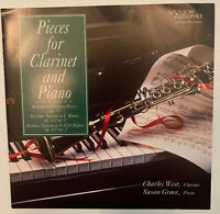 CHARLES WEST Pieces For Clarinet & Piano CD, Wilson Audiophile, Rare Exceptional