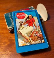 Coca Cola 1943 Deck Of Playing Cards Terrier Blue Cards w/Box Silhouette Girl