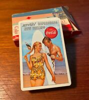 Coca Cola 1963 Deck Of Playing Cards Surfing Allan Petretti