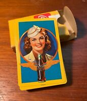 Coca Cola 1943 Deck Of Playing Cards Airline Stewardess From Allan Petretti