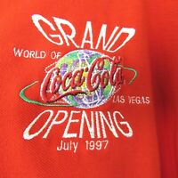 World of Coca Cola Shirt Polo Las Vegas Grand Opening 1997 L Vintage #20 of 700
