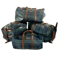 Polo Ralph Lauren Blackwatch Tartan 6 Piece Luggage Set Rare