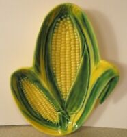 Vintage Vallona Starr Ears of Corn 2 Part Divided Relish Dish California Pottery