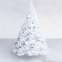 8Ft Artificial PVC Christmas Tree W/Stand Holiday Season Indoor Outdoor White