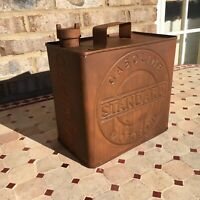 Vintage Style Square Metal Standard Gas Can Motor Oil Adverstising Man Cave Bar