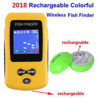 Portable Sensor Fishfinder LCD Display Rechargeable Handheld Sonar Wireless