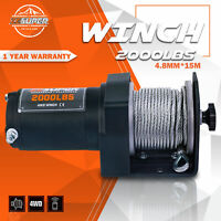 ZESUPER 2000 lb 12V DC Electric Winch 50 ft Steel Cable Off Road UTV ATV