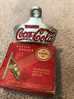 Antique Coca Cola STARR quot;Xquot; wall mount bottle opener Brown Co. Made in USA