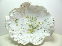 Stunning Rare Antique C.T. Carl Tielsch Germany Large Victorian Porcelain Bowl
