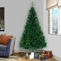 Hot Christmas 8Ft Artificial Tree W/Stand Season Indoor Outdoor Holiday Green US