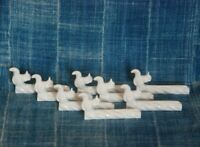 SET of FRENCH WHITE PORCELAIN KNIFE RESTS ~ SQUIRRELS ~ CHOPSTICK RESTS