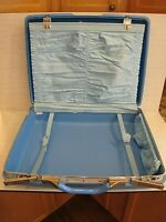 vintage Samsonite Blue Montbello II Suitcase Hardshell Luggage lot2 20