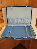 vintage Samsonite Blue Montbello II Suitcase Hardshell Luggage  23.5