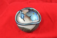 SNAKE AND FLOWER PAPERWEIGHT - Beautiful - Unmarked - Excellent Condition