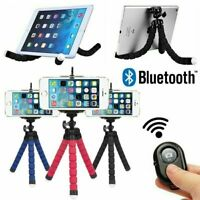 Universal Mobile Phone Holder Tripod Stand For iPhone Camera Samsung with Remote GBP 6.99