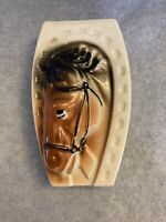Vintage Made in Japan Wall Pocket Horse Head Horseshoe