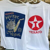 Texaco Vintage Tshirt New York Jazz Festival 1997 Volunteer Made USA XL L Oil NY