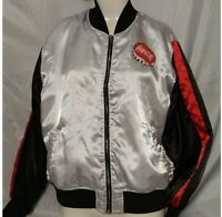 Womens Coca Cola Jacket Silver Red Black Size XL