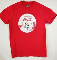 Damp;B Coca Cola Rio 2016 Olympic Games Red T Shirt Size XL Collectible EUC