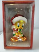 LOONEY TUNES TWEETY BIRD GLASS ORNAMENT Kurt Adler 2000 NEW FREE SHIP
