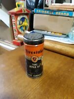 FIRESTONE TUBE REPAIR KIT METAL CAN WITH SOME CONTENTS