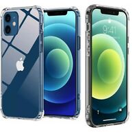 For Apple iPhone 12 11 Pro 7 8 Plus X XR XS MAX SE 12 Mini Shockproof Clear Case $4.45