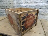 Chase amp; Sanborn Seal Brand Coffee Vintage Coffee Box Advertising Wooden Crate