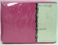 JCPenney Bright Pink Percale 50% Polyester Cotton Full Flat Vintage Bedding