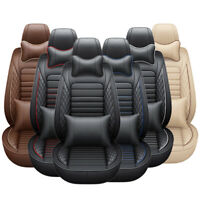 5D Car Seat Covers Full Set w Waterproof Leather Universal for Sedan SUV Truck $85.99
