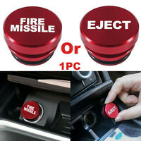 Universal Fire Missile Eject Button Car Cigarette Lighter Cover 12V Accessories $8.16