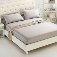 Solid Color Bedding Linens Bed Sheets простыни BED covers With Elastic Band