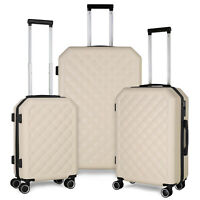 3 Piece Set 20quot;24quot;28quot; Suitcase Spinner Hardshell Lightweight Luggage US Stocks