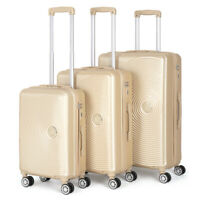 3 PCS ABS Luggage Hardside Spinner Lightweight Durable Spinner Suitcase 20 24 28