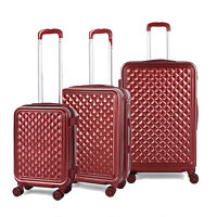 3PCS ABS Luggage Hardside Spinner Lightweight Durable Spinner Suitcase 20quot;24quot;28quot;