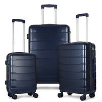 3 Piece Luggage Cases PCABS Spinner Suitcase 20 inch 24 inch 28 inch