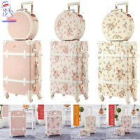 Europe Vintage Style Women Travel Trolley Luggage Toiletry cosmetic case bag set