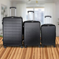 3 Set ABS Luggage Spinner Lightweight carry on luggage Suitcases 20#x27;#x27; 24#x27;#x27; 28#x27;#x27;
