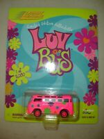 Johnny Lightning 1999 Pink VW Luv Bus with Pink Wheels Limited to 5000