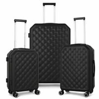 3 Piece Suitcase Set HardShell 360 Spinner Luggage Set for Carry On and Checked